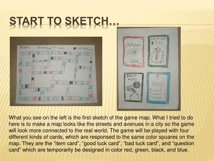 Start to sketch…