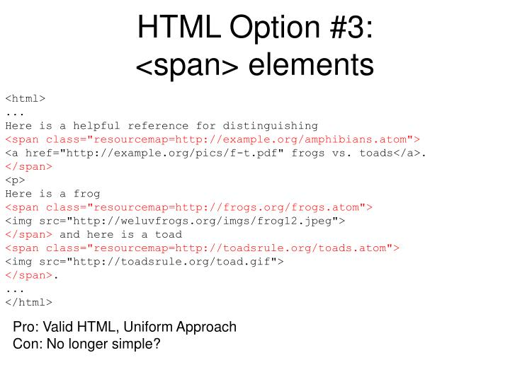 HTML Option #3: