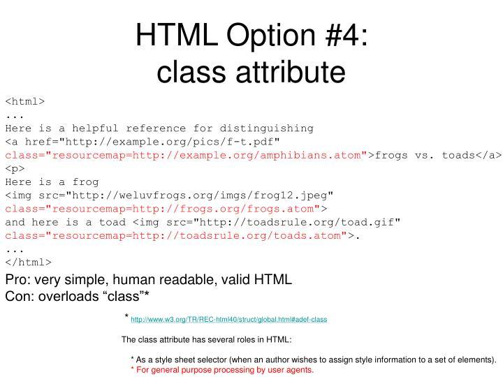 HTML Option #4: