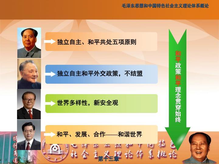 独立自主、和平共处五项原则