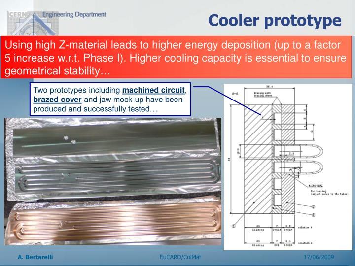Cooler prototype