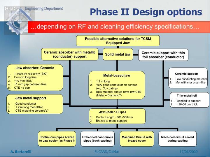 Phase II Design options
