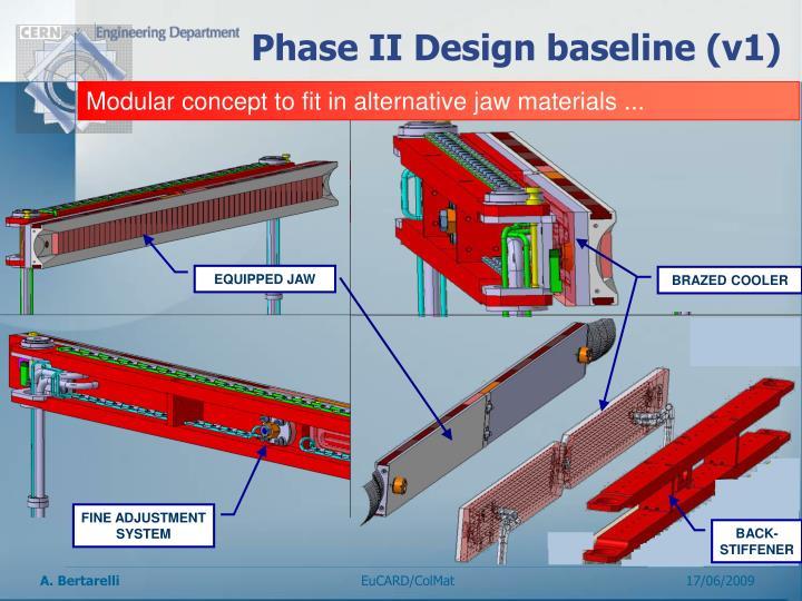 Phase II Design baseline (v1)