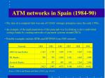 atm networks in spain 1984 90