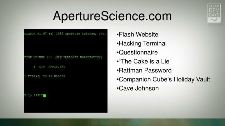 ApertureScience.com