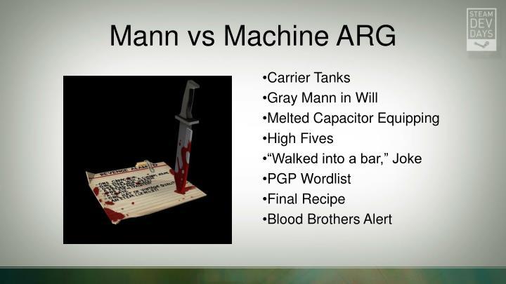 Mann vs Machine ARG