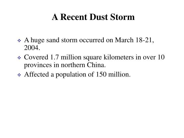 A Recent Dust Storm
