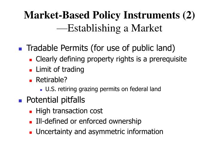 Market-Based Policy Instruments (2)
