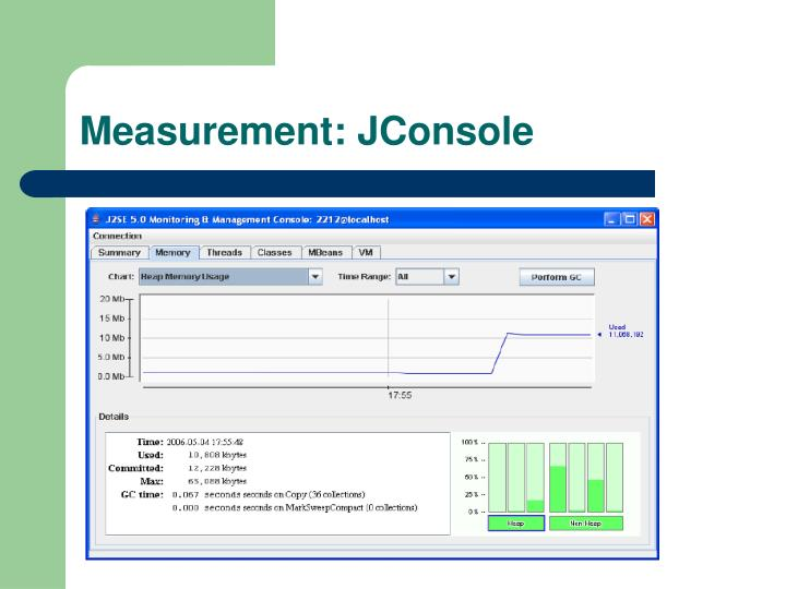 Measurement: JConsole