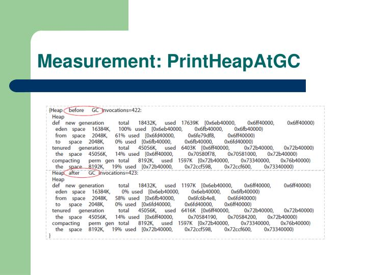 Measurement: PrintHeapAtGC