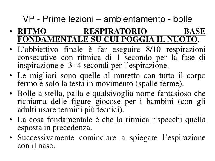 RITMO RESPIRATORIO BASE FONDAMENTALE SU CUI POGGIA IL NUOTO