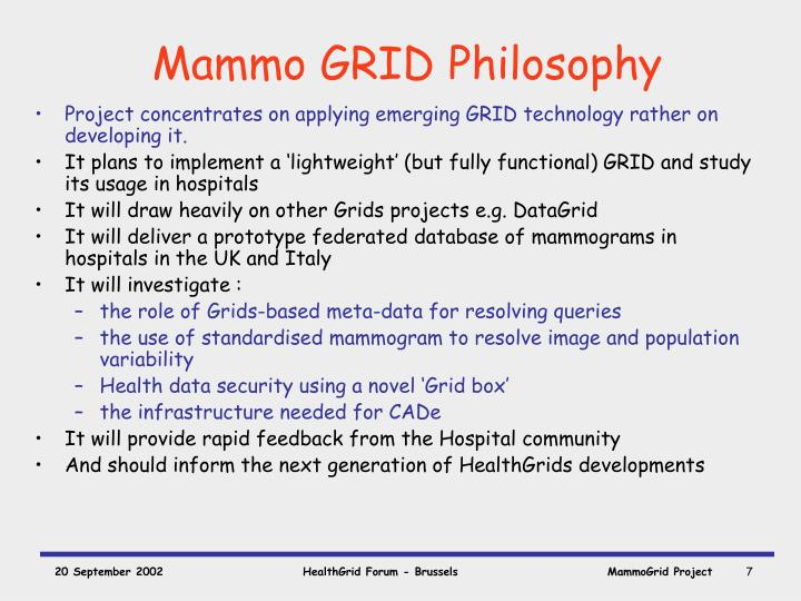 Mammo GRID Philosophy