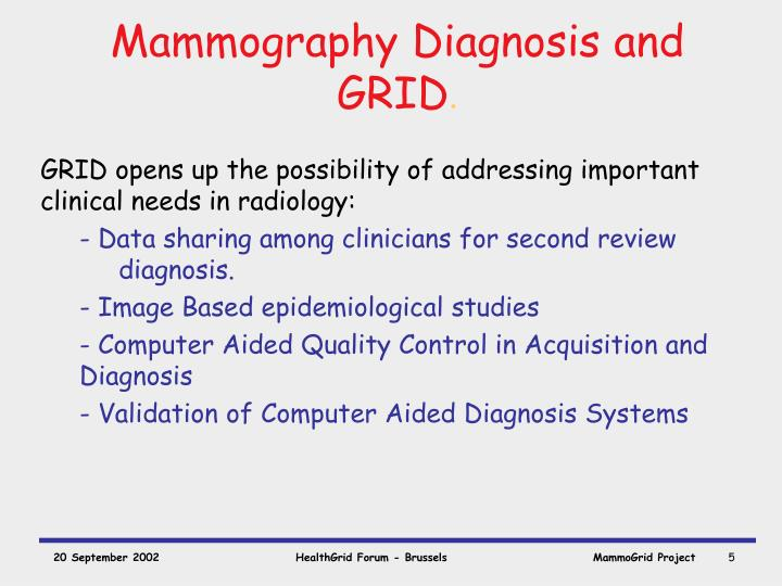 Mammography Diagnosis and GRID