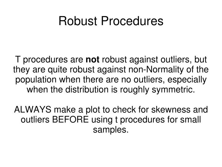 T procedures are