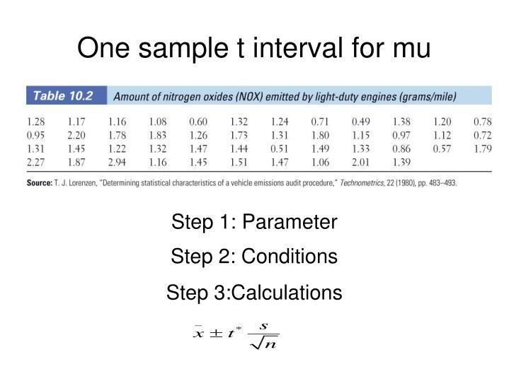 Step 1: Parameter
