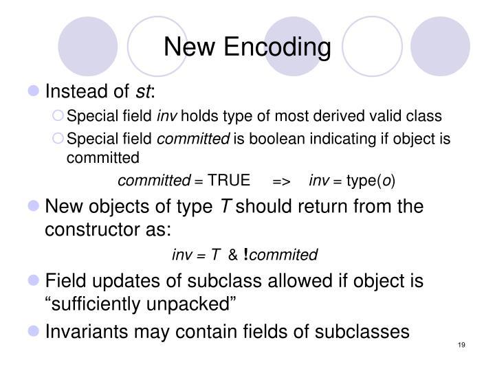 New Encoding