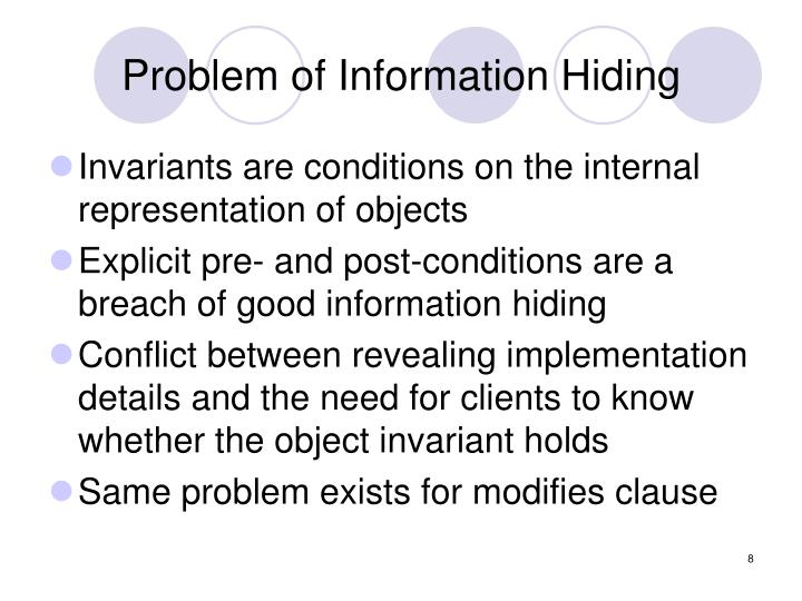 Problem of Information Hiding