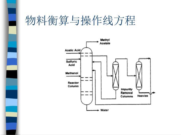 物料衡算与操作线方程