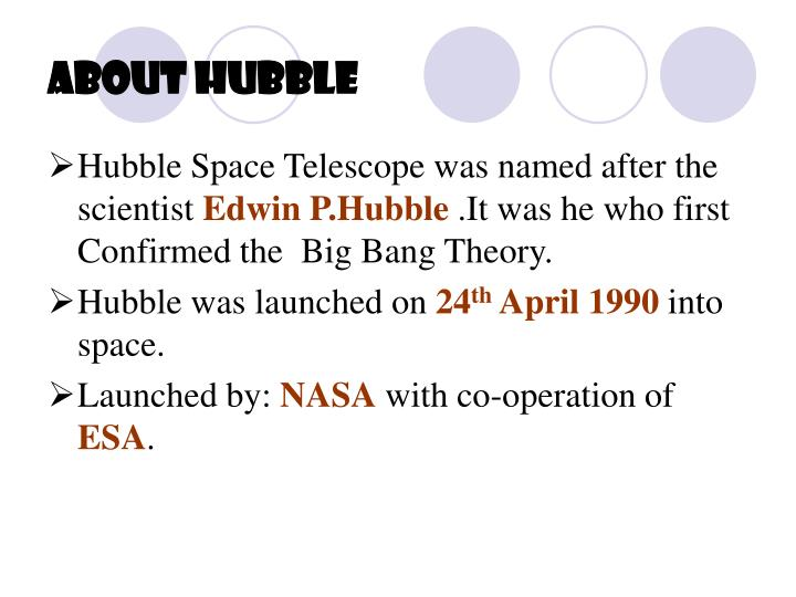 About hubble