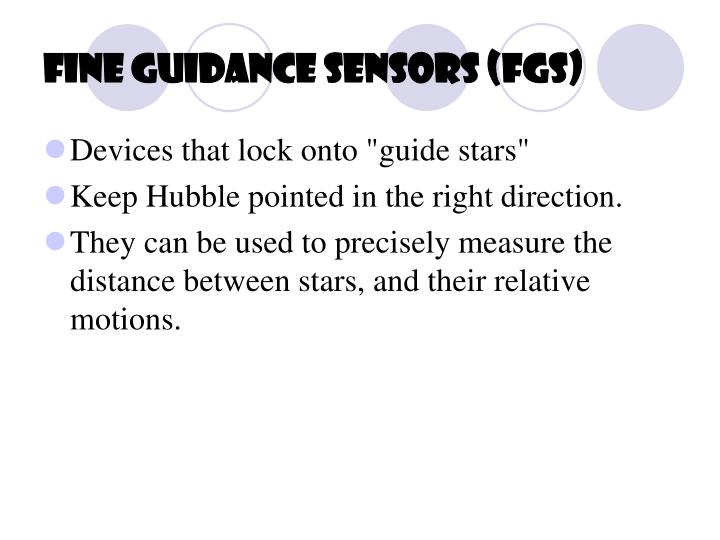 Fine Guidance Sensors (FGS)