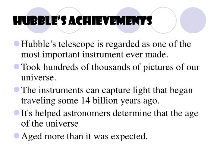 Hubble's Achievements