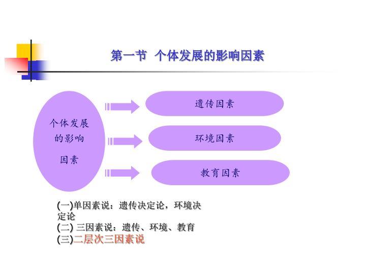 第一节  个体发展的影响因素