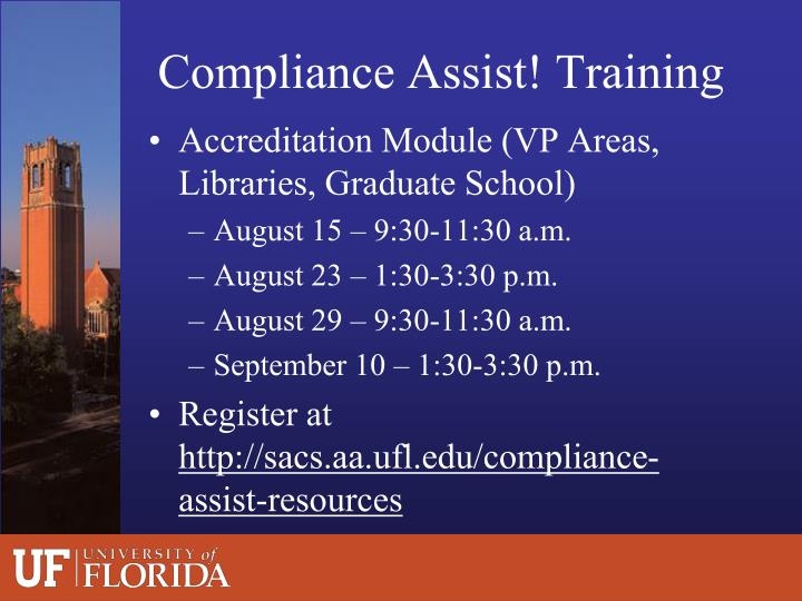 Compliance Assist! Training