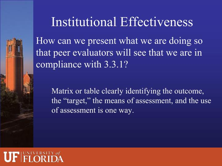 Institutional Effectiveness