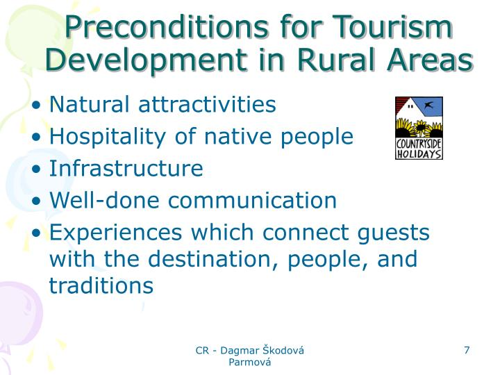 Preconditions for Tourism Development in Rural Areas