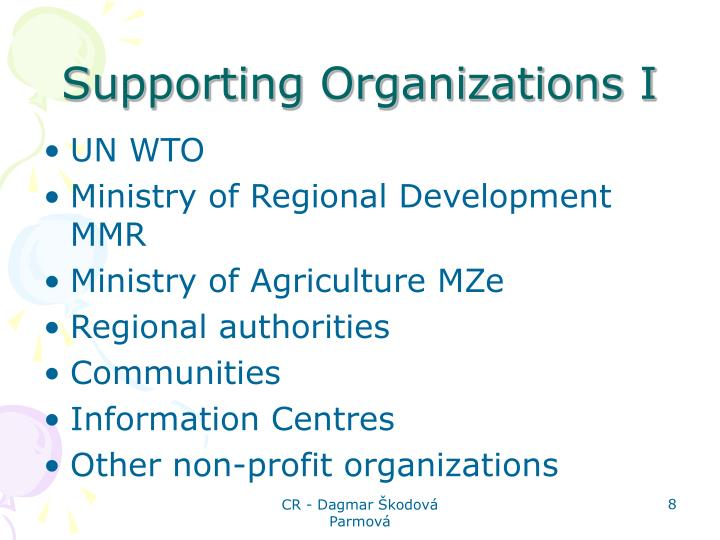 Supporting Organizations I