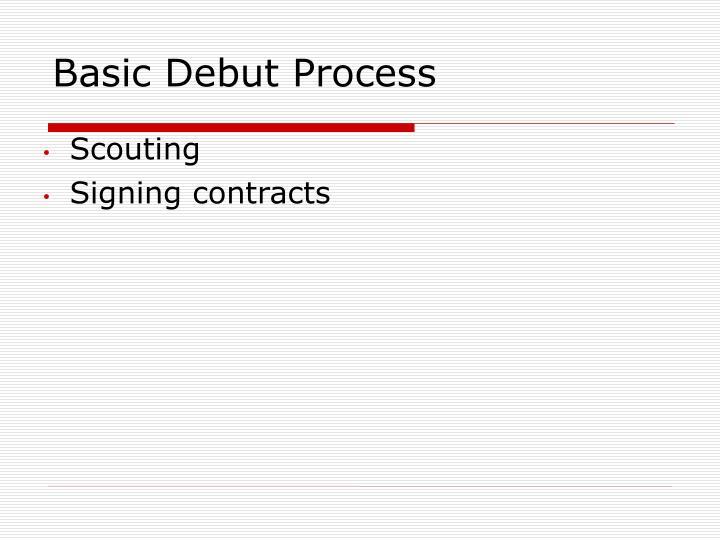 Basic Debut Process