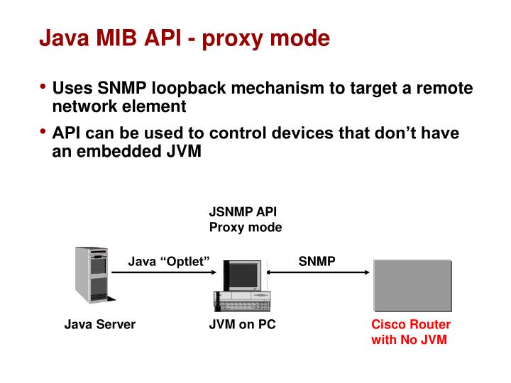Java MIB API - proxy mode