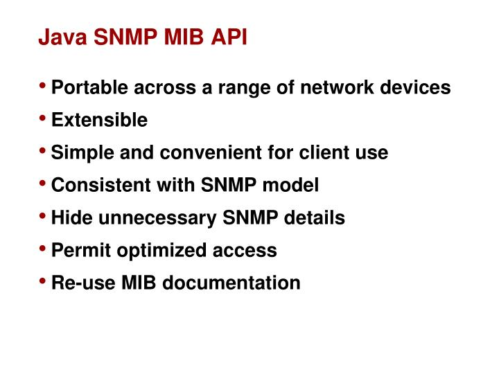 Java SNMP MIB API
