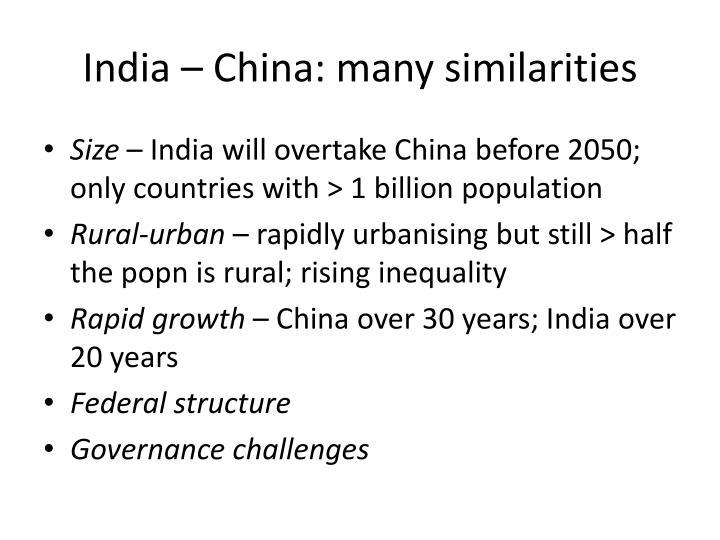 India – China: many similarities