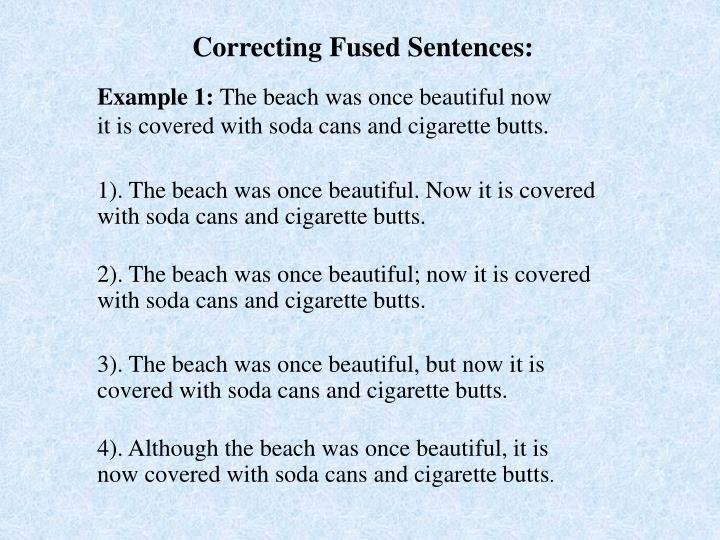 Correcting Fused Sentences:
