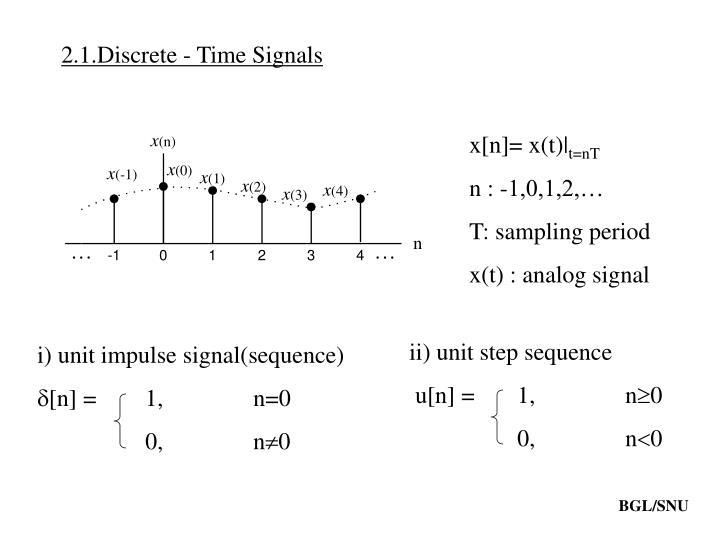 2.1.Discrete - Time Signals
