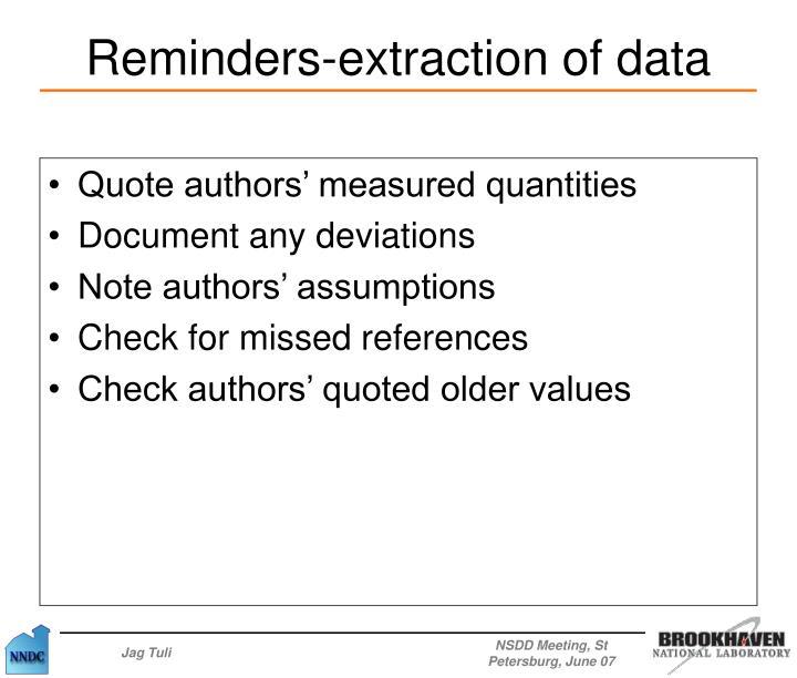 Quote authors' measured quantities