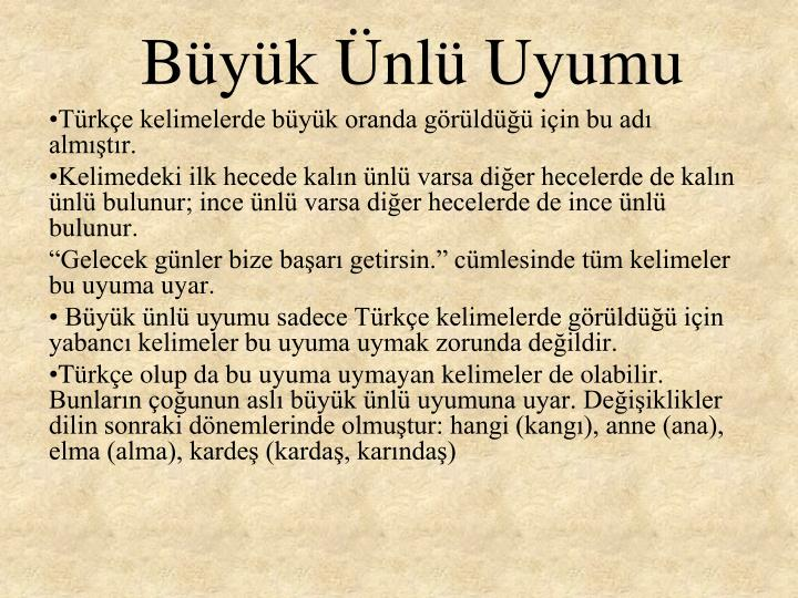 Byk nl Uyumu
