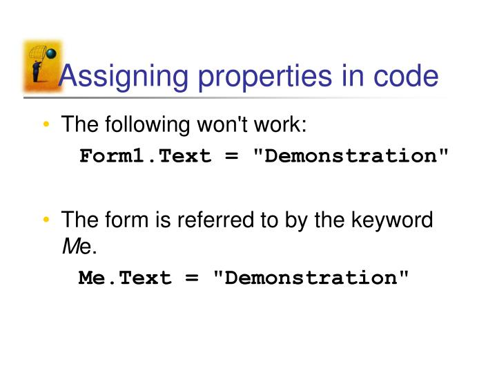 Assigning properties in code