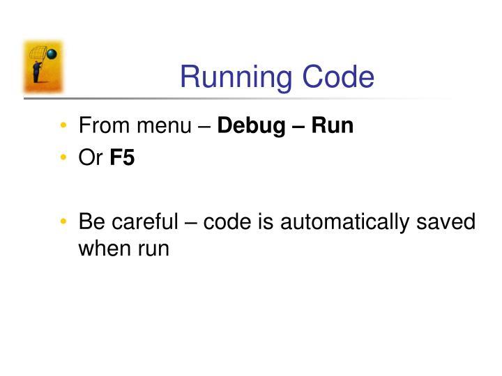 Running Code