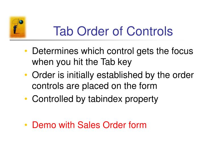 Tab Order of Controls