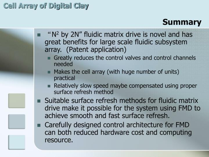 Cell Array of Digital Clay