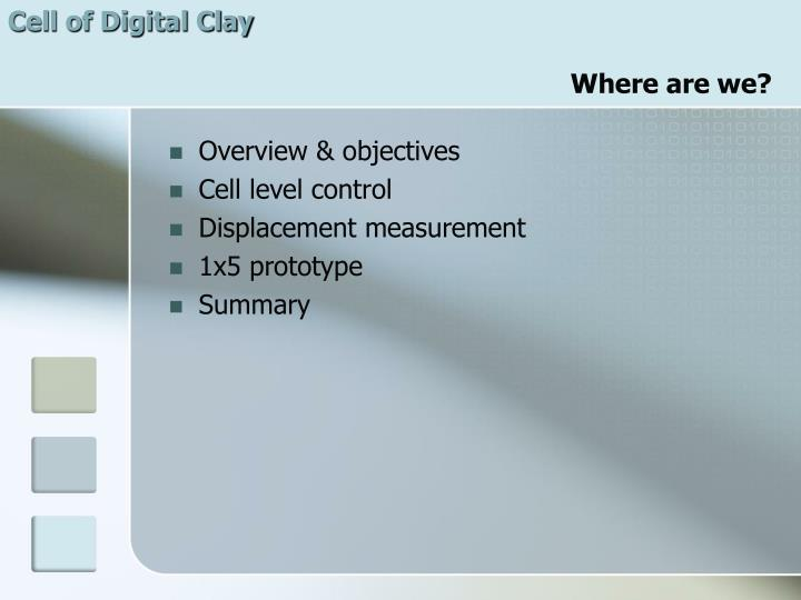 Cell of Digital Clay