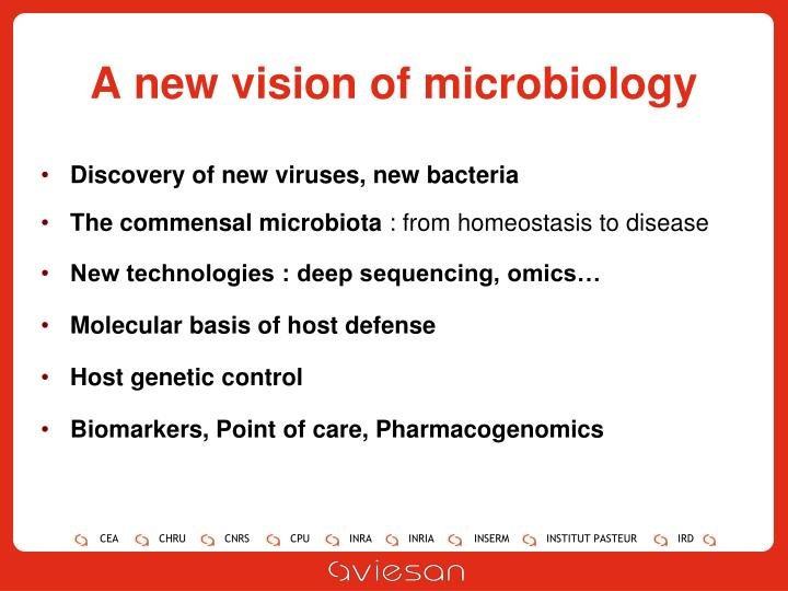 A new vision of microbiology