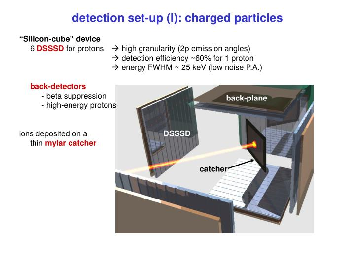 detection set-up (I): charged particles