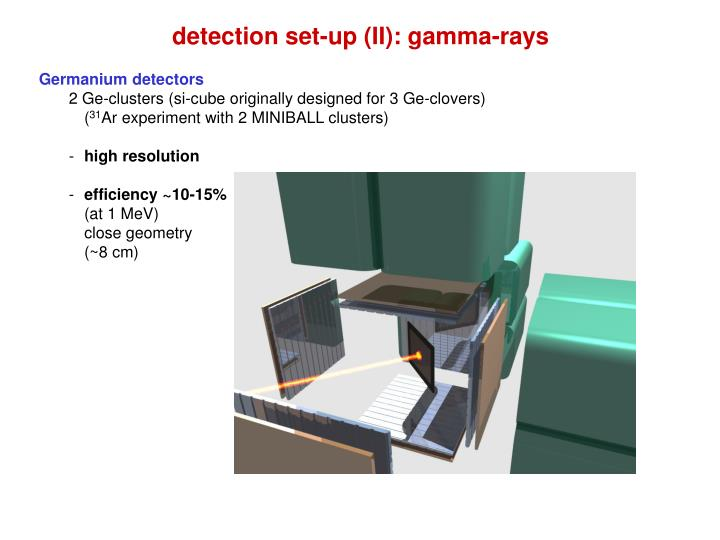 detection set-up (II): gamma-rays