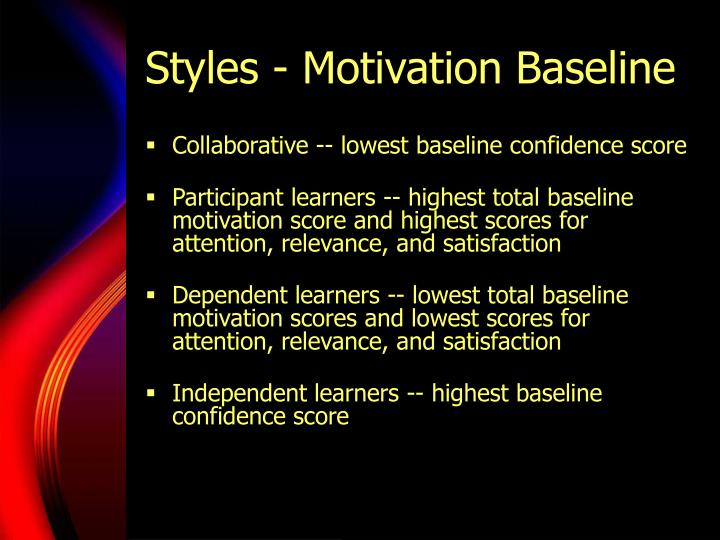 Styles - Motivation Baseline