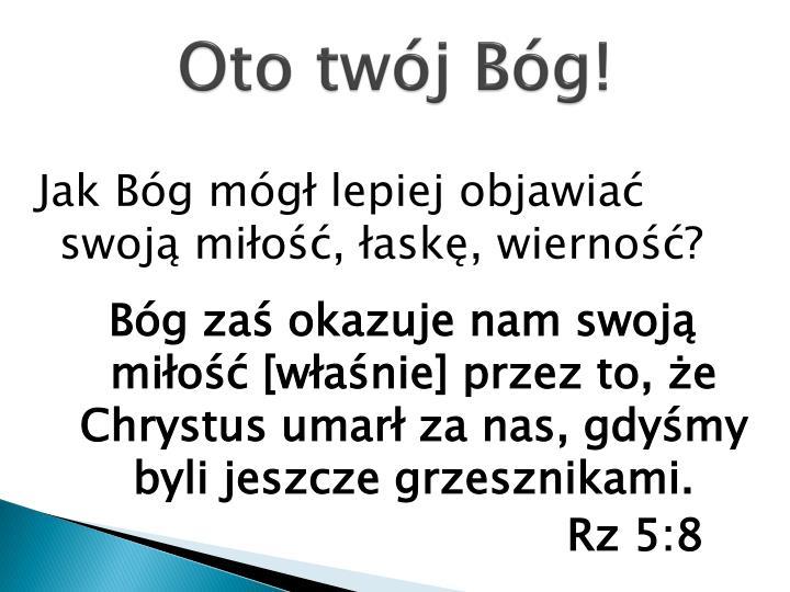 Oto twój Bóg!