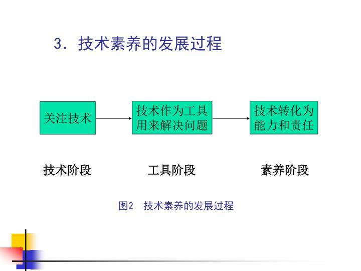 3.技术素养的发展过程