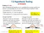 7 2 hypothesis testing known